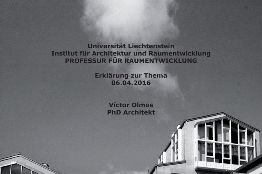 Candidature Professor für Raumentwicklung at the Uni Li (FL)