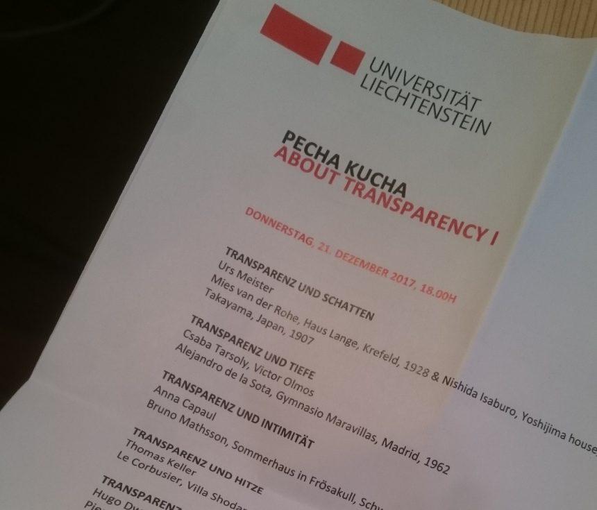 Pecha Kucha, About Transparency, Uni Li